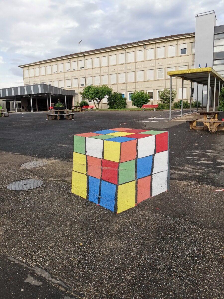 Anamorphose de rubik's cube